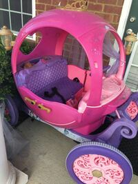 children's pink and purple trailer toy