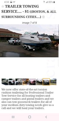 TRAILER TOWING SERVICE... - ((BOSTON, & ALL SU