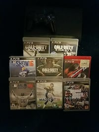 Ps3 consol with 8 games Des Moines, 50316