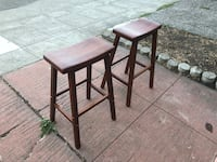 Solid wood bar height stools  Oakland