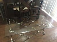 rectangular glass top table with four chairs dining set Hyattsville, 20785
