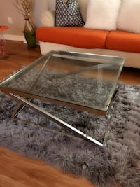 Contemporary silver glass top coffee table  Alexandria, 22303