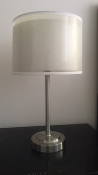 Stainless steel base white shade table lamp Los Angeles, 90012