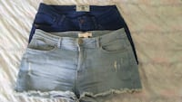 x2 Blue Denim Shorts  Size 36 Marbella, 29660