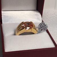 Size 11.25 Sapphire Ring, 18k yellow gold filled Chesapeake, 23320
