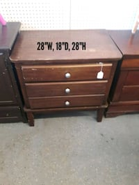 brown wooden 3-drawer chest Fort Worth, 76111