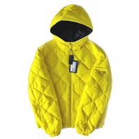 PRADA - NWT Neon Yellow Down Filled Puffer Coat Brampton