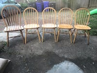 Set of 5 dining room chairs Arlington, 22209