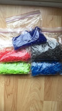 Rainbow Loom bands and connectors  Kitchener, N2B 3V8