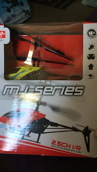 Black and yellow MJ-Series helicopter with gyro.