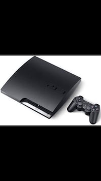 black Sony PS3 slim console with controller Austin, 78758