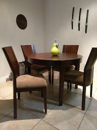 brown wooden kitchen table and chair set Miami, 33196