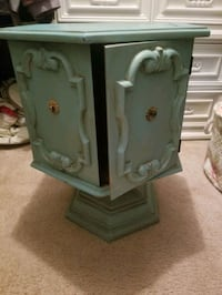 Turquoise Chest/side table