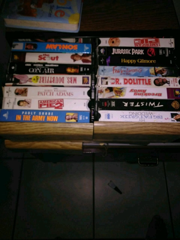 VCR movies and case