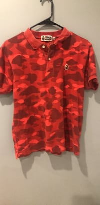 red and black camouflage button-up shirt Hyattsville, 20781