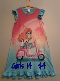 pink and blue Disney Frozen print tank top Calgary, T3B 0T3