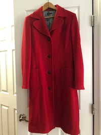 red button-up coat Fairfax, 22033