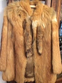 REAL RED FOX FUR COAT