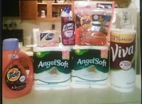 assorted cleaning materials