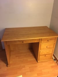 Solid Wood Oak Desk with Matching Book Case Vancouver, V5W 1H2