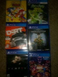 Multiple ps4 games Baltimore, 21212