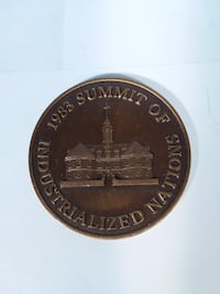 Coin,1983 Summit Of Industrialized Nations  Quinton