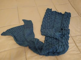 Mermaid Tail Blanket (Teal)