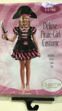Girl 3-5 years pirate costume