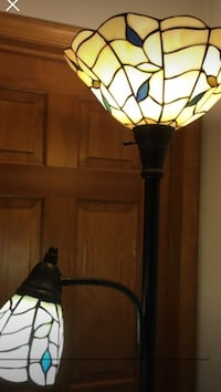 Tiffany style tall leaded lamp 155 mi