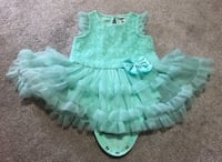 Cyan coloured frill dress for until around 18 months Mississauga, L5G