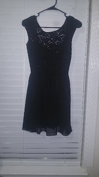 women's black sleeveless dress HUMBLE