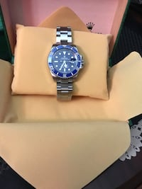 Submariner blue face silver bracelet automatic mechanical new watch Mississauga, L5L 3R4