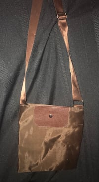 Crossbody brown Longchamp like purse Montréal, H1R