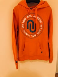 orange pull-up hoodie
