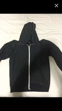 Reigning champ warm striped zip-up men's hoodie size large