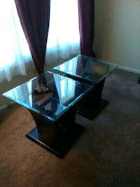 Pair of matching end tables. Conyngham