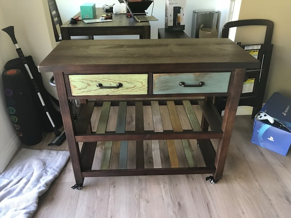 Kaytetty Marlijo Brown Kitchen Cart Table Not Used