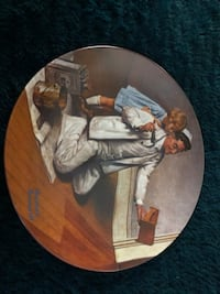 """Norman Rockwell """"The Painter"""" Plate Lubbock, 79414"""