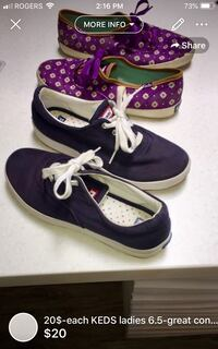 20$-each KEDS ladies 6.5-great condition-great for back to school  London, N5W 1E8