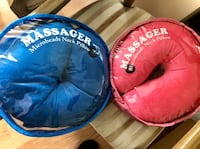 Neck Pillow with built in massager with own storage bag. Vancouver, V6E 4R2