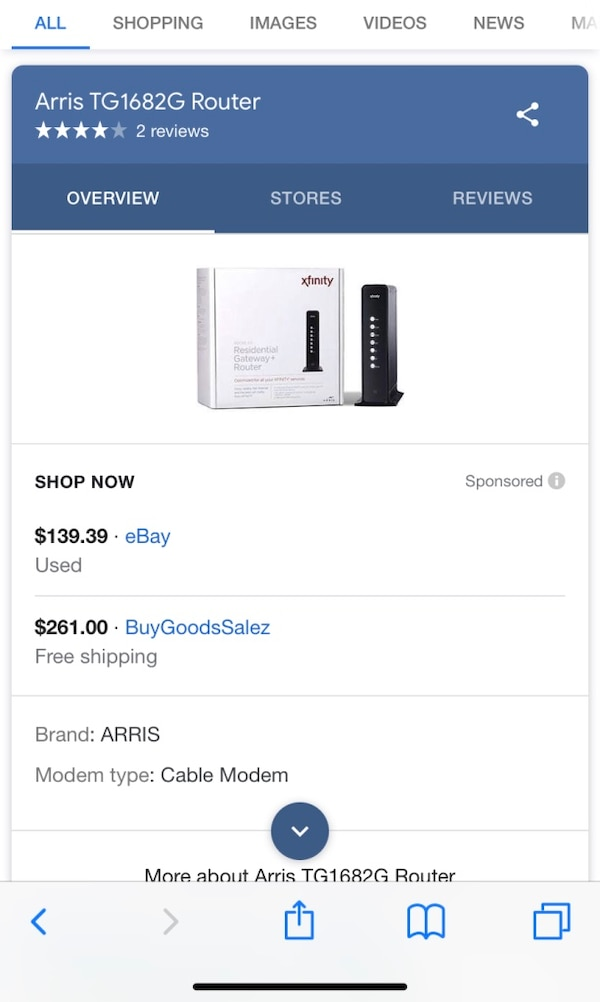 Brand New ARRIS by Xfinity Router w/everything-STEAL