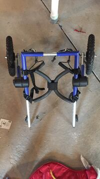 blue, silver and black stationary bicycle stand Colorado Springs, 80922