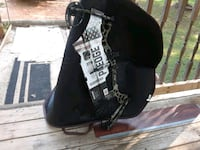 black and white leather shoulder bag Sumiton, 35148