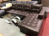Brand new in box, brown faux leather sectional sofa winter sale  547 km