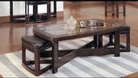 round brown wooden coffee table Monterey Park, 91755