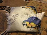 Pair of satin pillows with hidden zipper, feather liner   Super nice Bombay co pillows my best price $30  Vancouver, V5S