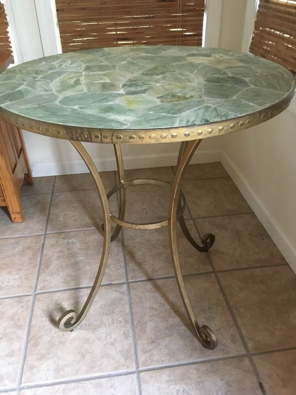 Used Pier One Stone Topped Plant Stand