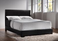 Queen size black leather bed frame  Walnut Creek, 94597