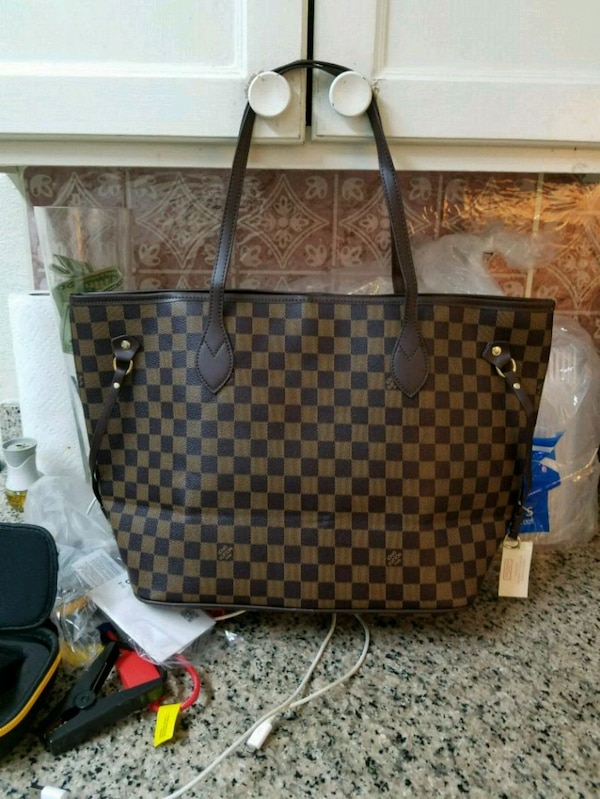 5b5b257e02f3 Used brown and black Louis Vuitton leather tote bag for sale in Redwood City  - letgo