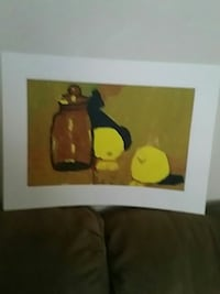 Two apples & one jar painting